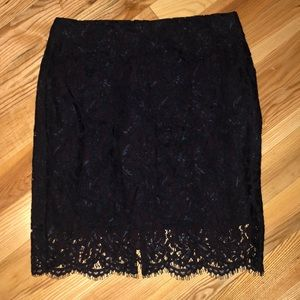 Banana Republic purple skirt with lace overlay